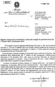POST 130 LIRICO NOMINA CRIVELLENRI VALIDA, DISSE IL MINISTERO